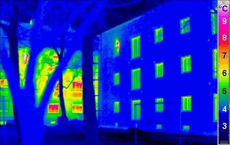 Lekkasjesøk med termografi.